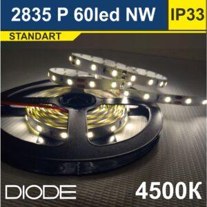 Светодиодная лента SMD2835 60led 4500К