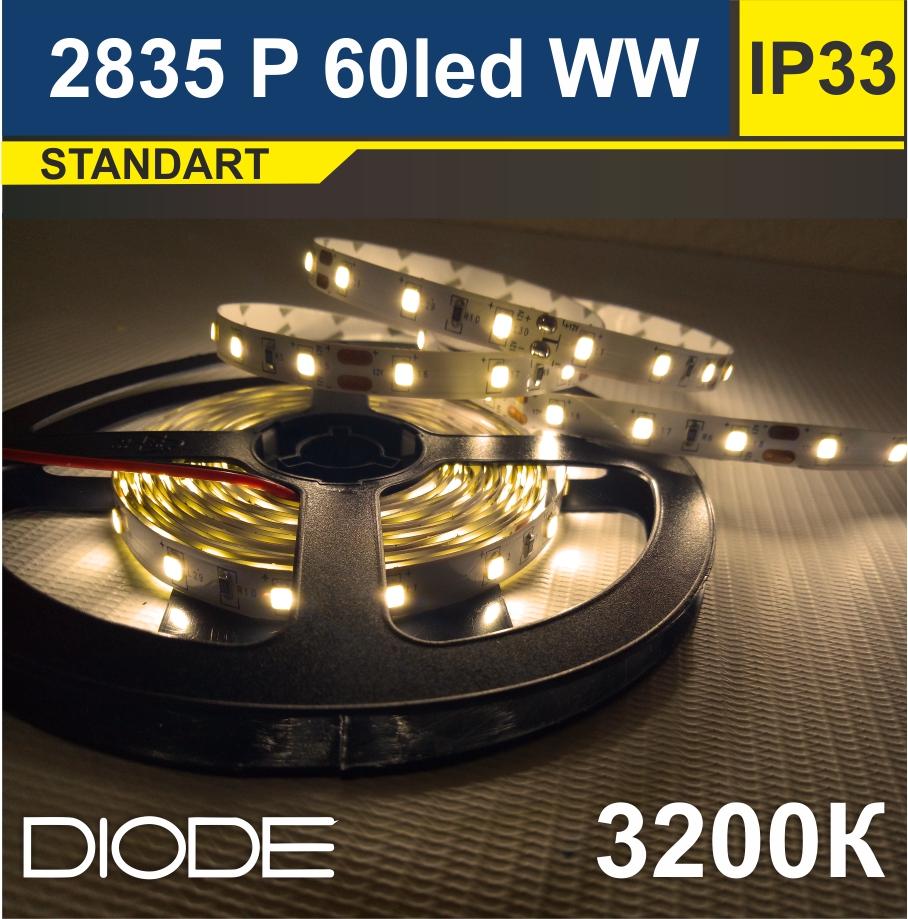 Светодиодная лента SMD2835 60led 3200К