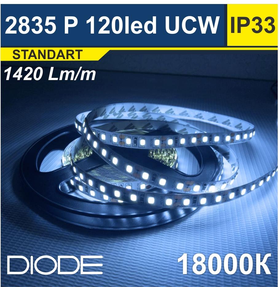 Светодиодная лента SMD2835 120led 18000К