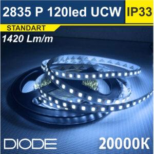 Светодиодная лента SMD2835 120led 20000К