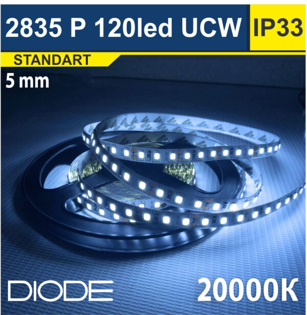 Светодиодная лента SMD2835 5mm 20000К