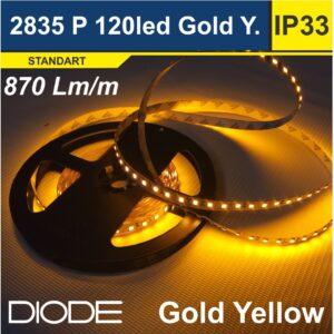 Светодиодная лента SMD2835 120led Gold