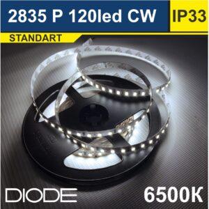 Светодиодная лента SMD2835 120led 6500К