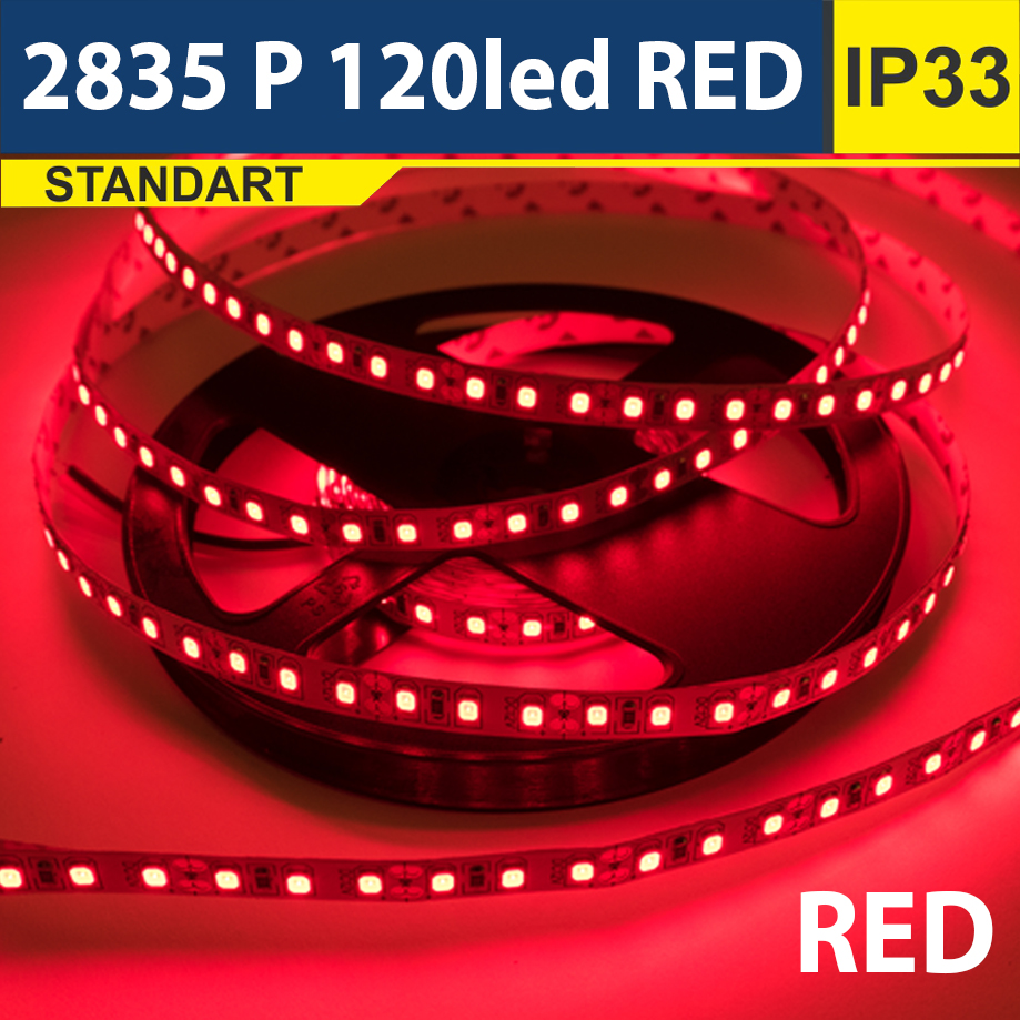 Светодиодная лента SMD2835 120led красный