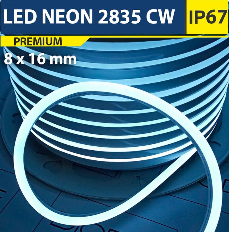 Светодиодный неон 8х16 мм Белый