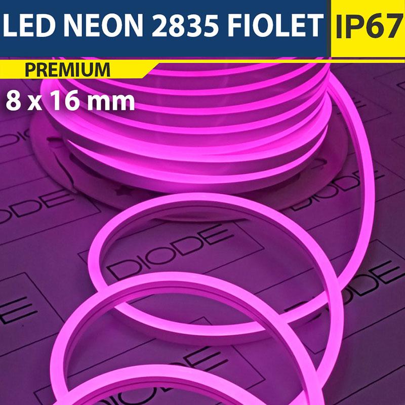 Светодиодный неон 8х16 мм Фиолетовый