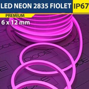 Светодиодный неон 6х12 мм Фиолетовый