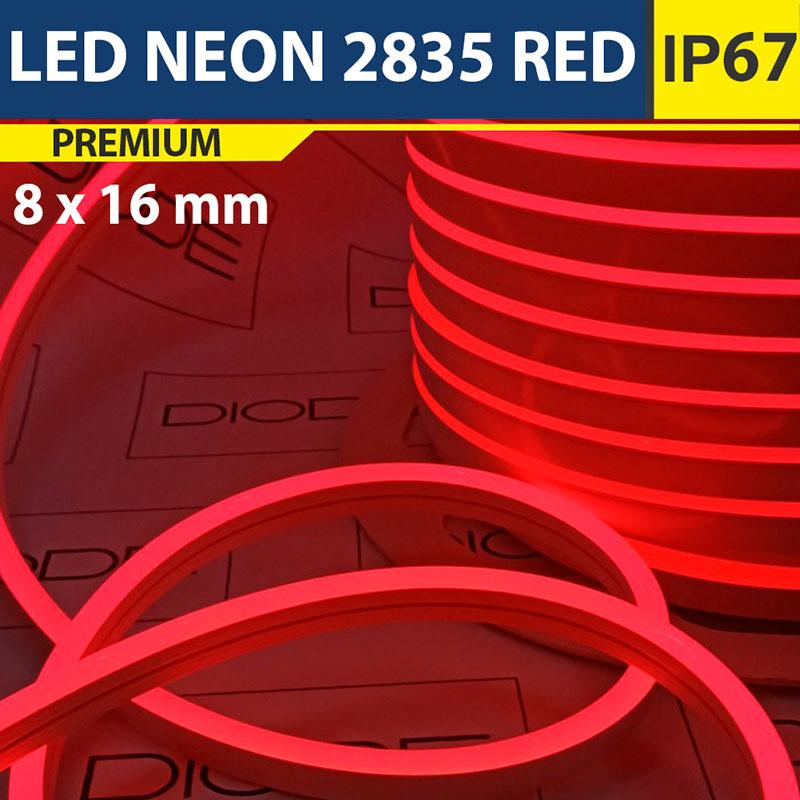 Светодиодный неон 8х16 мм Красный