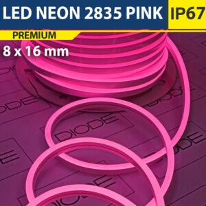 Светодиодный неон 8х16 мм Розовый