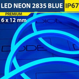 Светодиодный неон 6х12 мм Синий