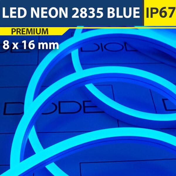 Светодиодный неон 8х16 мм Синий