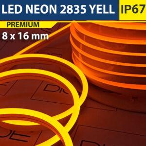 Светодиодный неон 8х16 мм Желтый